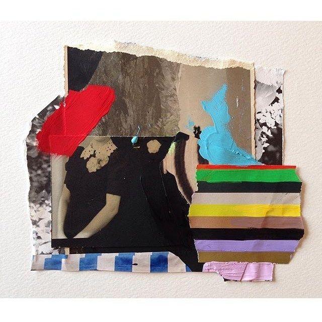New colour study... #art #painting #abstract #paper #collage #artonpaper #mixedmedia #contemporaryart #stripes #ss16 #aw16 #fw16 #emilyfiller
