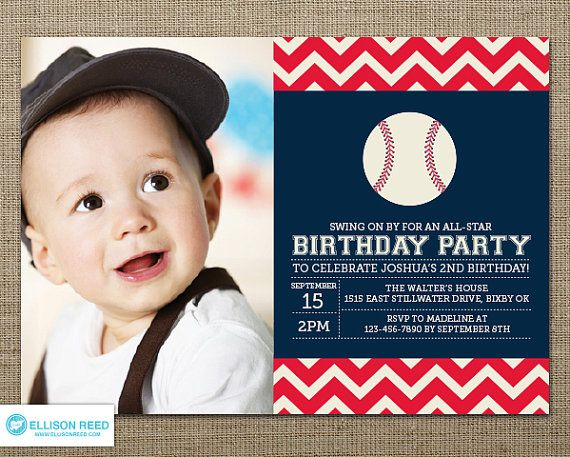 107 best First Birthday Ideas images on Pinterest Sports party - fresh birthday invitation of my son