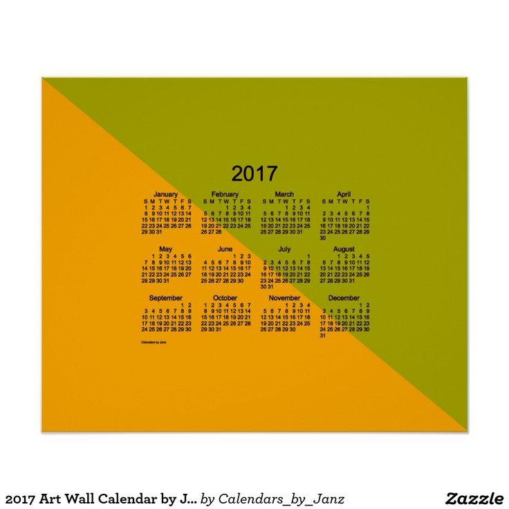 2017 Angle Art Wall Calendar by Janz Wall Decal | Wall Calendars ...