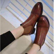 Nuevo 2014 invierno y otoño nuevas mujeres botas zapatos moda de europa del cordón frontal plana de cuero pintura Boots Ladies Motorcycle Boots(China (Mainland))