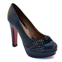 Perfect čierna, koža, Montonelli Dámske topánky, topánky platformy Topánky, obuv, obuvi, obuv online, značkova obuv - Shoecocktail shop online