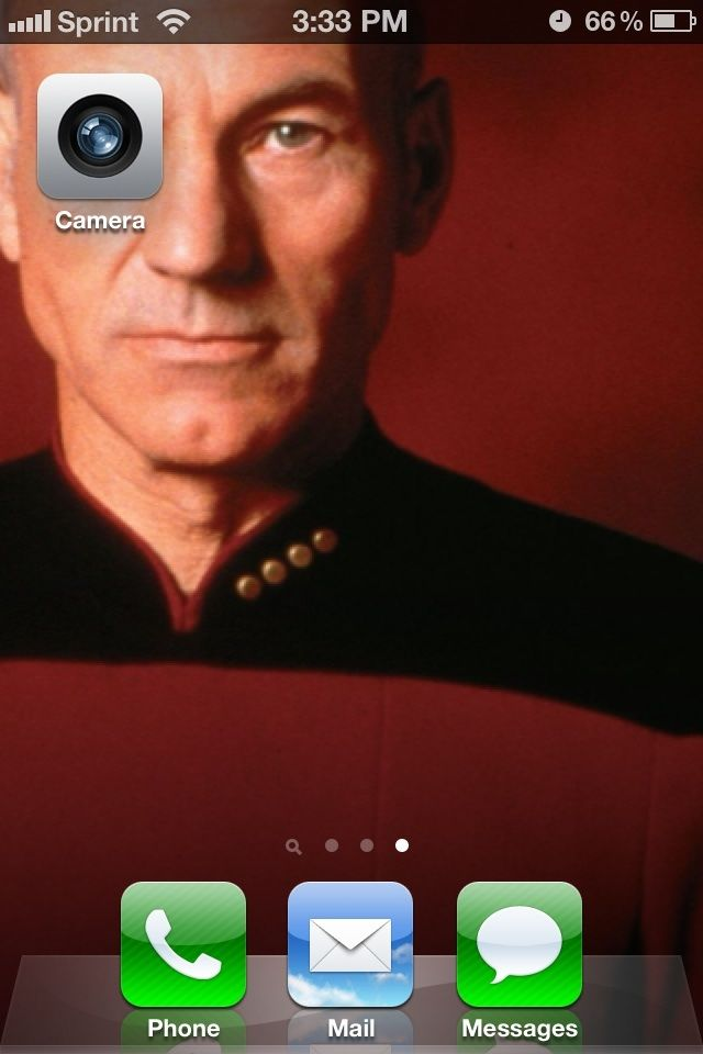 The most authentic Borg Jean-Luc iPhone wallpaper ever conceived.