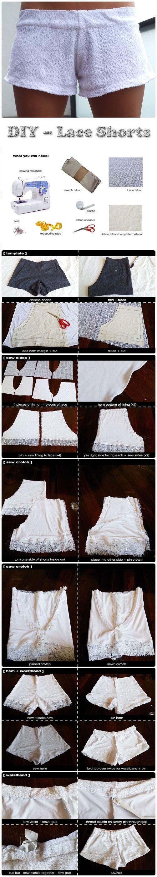 DIY – Lace Shorts : DIY and Craft Tutorials