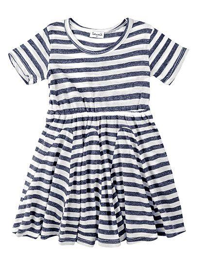 Splendid Girls' French Stripe Short Sleeve Dress