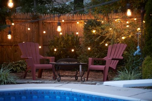 String Lights Around The Pool : 25 best images about Pool and patio on Pinterest String lights, Swimming pool builders and Plants