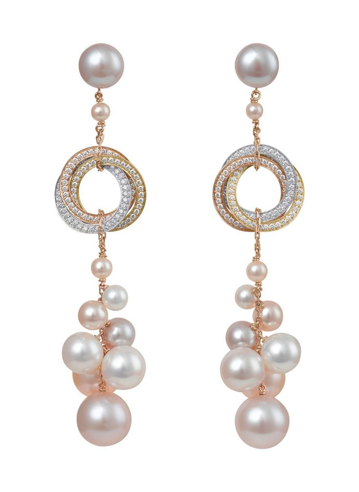 Trinity collection earrings by CARTIER