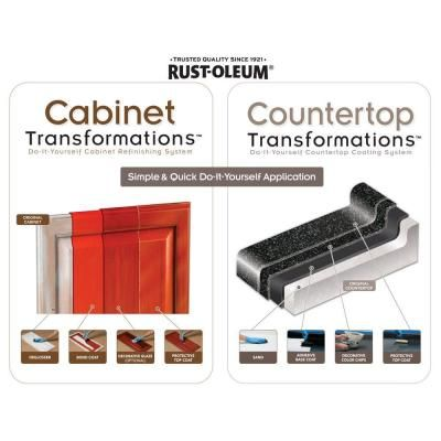 Rustoleum Countertop Paint Directions : Rust-Oleum Transformations 1-Qt. Cabernet Cabinet Small Kit-263233 at ...