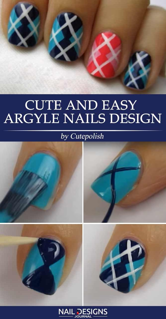 Step by Step Tutorials How to do Nail Designs at Home ★ See more: https://naildesignsjournal.com/how-to-do-nail-designs/ #nails