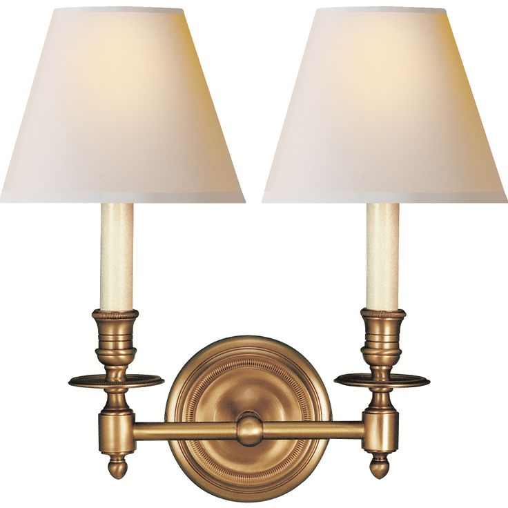 Hand-Rubbed Antique Brass with Natural Paper Shades