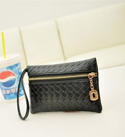 hot!!!!new 2014 women  leather handbags Candy color wallets women clutch phone bag free shipping US $3.00