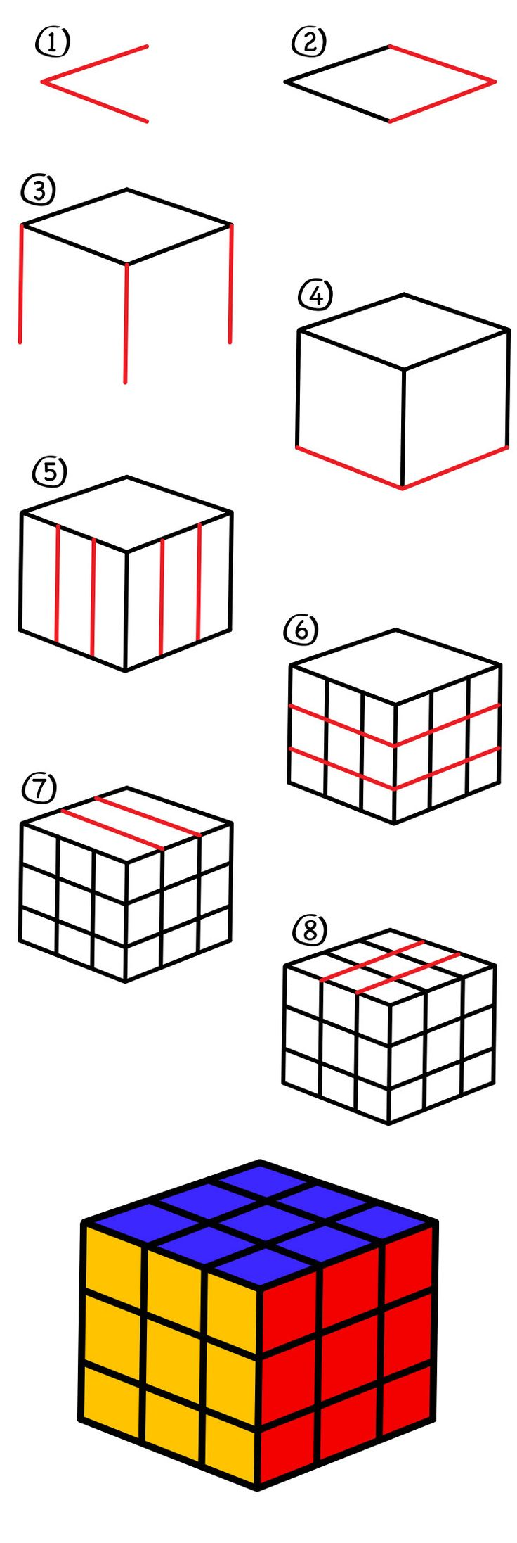 Learn how to draw a Rubik's Cube. The Rubik's Cube has always been one of my favorite toys. I could always solve one or two sides, but never the whole thing. Did you know you can learn how to solve the Rubik's Cube on their official website? It's true! After your child finishes drawing with …