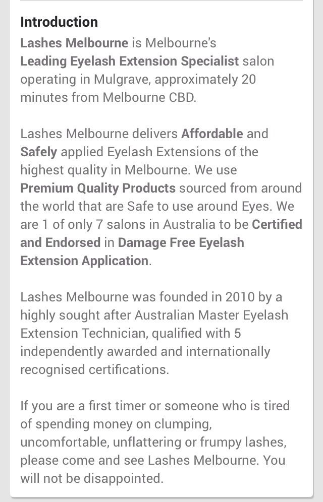 All about us! http://goo.gl/klW6gw #eyelashextensionsmelbourne