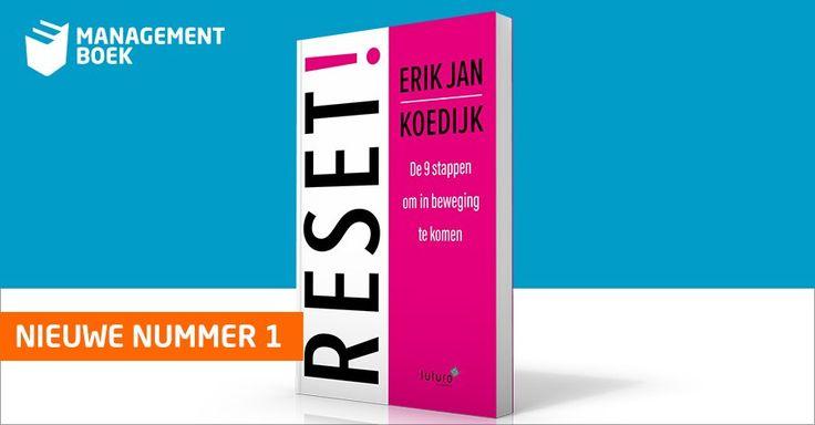 Geweldig, het boek 'RESET!, de 9 stappen om in beweging te komen' van Erik Jan Koedijk staat nu al 7 dagen op nummer 1 in de Bestseller Top 100 van Managementboek. #reset #erikjankoedijk #mgtboeknl #futurouitgevers
