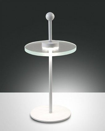 Fabas Luce Saturn LED Tischleuchte weiss