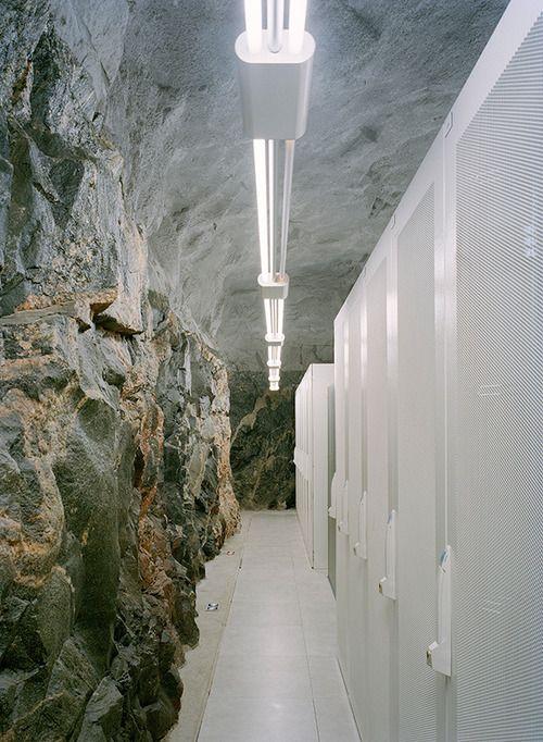 Underground server room.