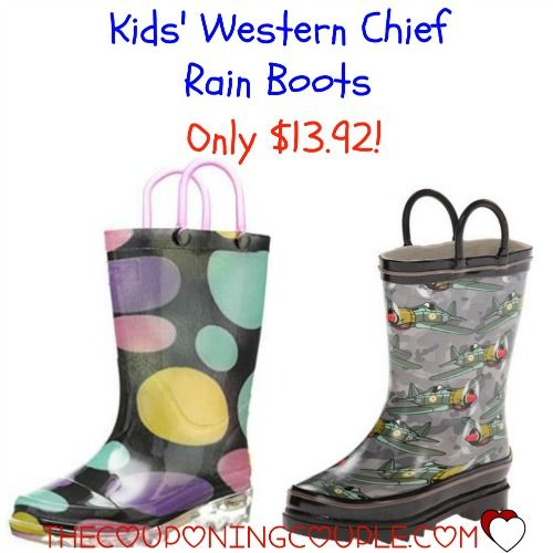 April Showers will be here soon! Get the kids Western Chief Rain Boots for only $13.92! (The same boots were $34 at Kohls!) The kids will love these boots and you will love them because their shoes will stay dry!  Click the link below to get all of the details ► http://www.thecouponingcouple.com/kids-western-chief-rain-boots-only-13-92/  #Coupons #Couponing #CouponCommunity  Visit us at http://www.thecouponingcouple.com for more great posts!