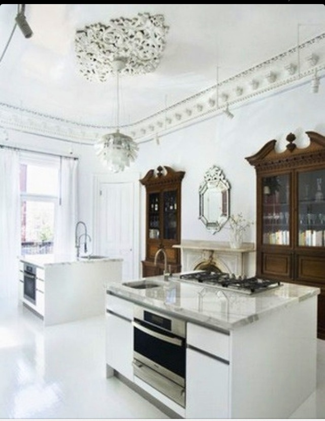 Marble Countertops Dark Cabinets And White Wood On Pinterest
