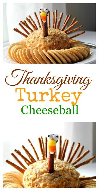 Thanksgiving Turkey Cheese Ball | Crafts a la mode