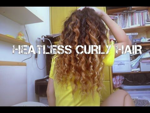 Heatless Overnight Curly Hair - YouTube