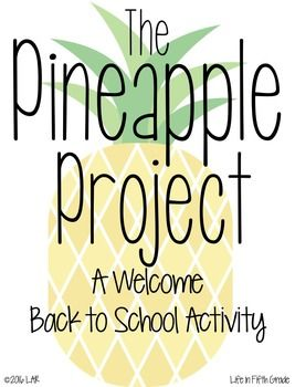 Want a fun, welcome back to school activity? The Pineapple Project is for you then! This resource includes: -a comp file that gets the kids to provide text based evidence short answer responses. This nonfiction text teaches the kids about how the pineapple came to be a symbol of welcome and hospitality - a fun activity that gets your kids up and out of their seat to find their partner for the activity- two options for interview sheets- two different options of patterns for a pineapple craft