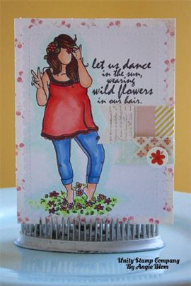 Ginna Girl by Angie Blom for Unity Stamp Co