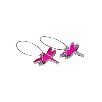 Dragonfly Earring - love mine in oil color