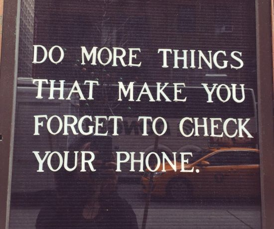 Definitely!!! Something I have been working on. Too many people depend on their phones. It has become ridiculous. They miss out on so much more!