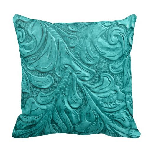 Western Throw Pillows For Couch : 454 Leather Pattern Western Wedding Throw Pillow Leather pattern