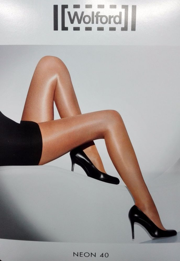 Wolford Neon 40 cosmetic collant tigths sexy lusso 18391 effetto lucido