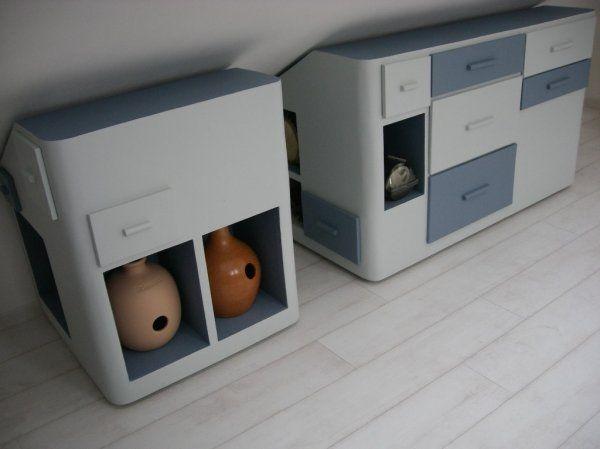 Les 19 meilleures images du tableau meubles rangement sous pente en carton sur pinterest les - Meuble sous pente castorama ...