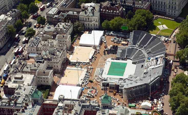 The Beach Volleyball arena, on Horseguards' Parade is the only central London arena for the Games