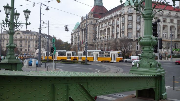 #Tram No.18 at the Gellért Hotel in #Budapest, #Hungary