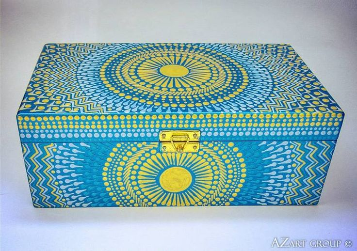 The Sunset wooden hand painted box from AZart_Group by DaWanda.com