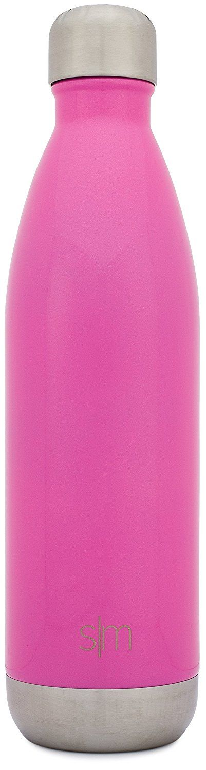 Amazon.com: Simple Modern 17oz Vacumm Insulated Wave Bottle - Double Walled Stainless Steel Water Thermos Cup - Compare to S'well, Contigo, Yeti, Hydro Flask - Cola Style Sports Tumbler - Bubble Gum Pink: Kitchen & Dining