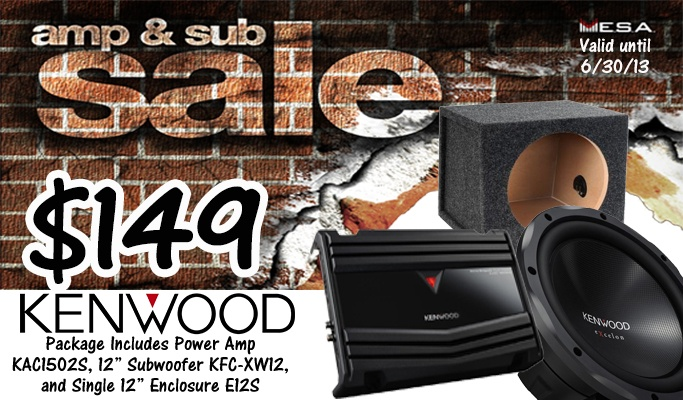 Kenwood Amp & Sub Package starting at $149