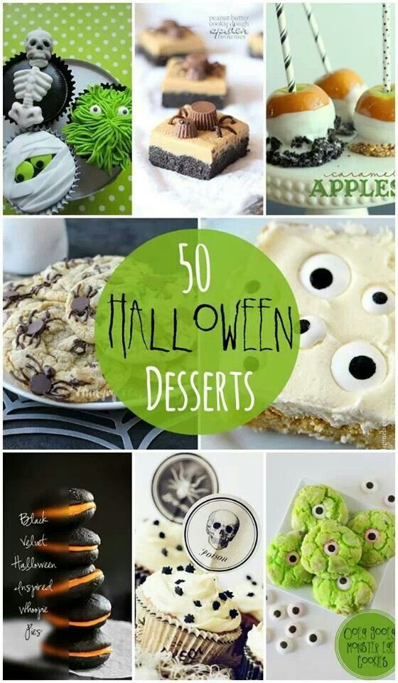 Chic Dining: Let your treats be chic for Halloween! Here's the URL http://lilluna.com/50-halloween-desserts/