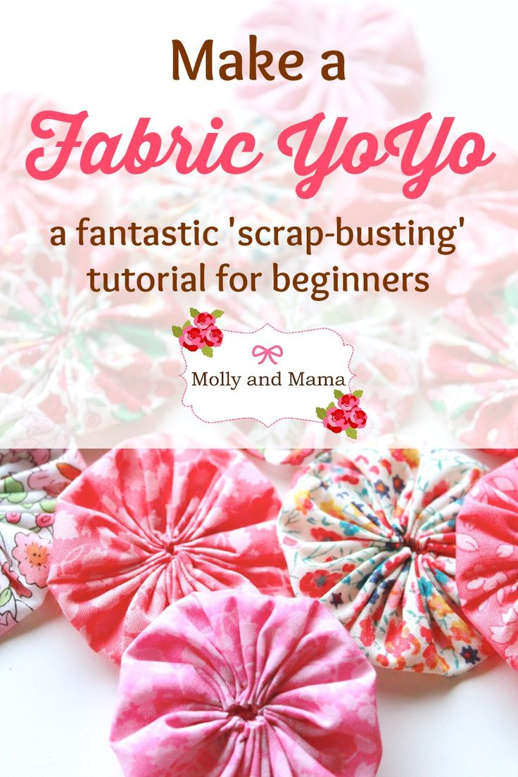 Make a Fabric YoYo with this simple Molly and Mama Tutorial. A great beginners project.