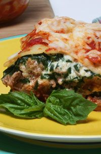 Turkey lasagna. Make over this family favorite with cancer fighting ingredients!