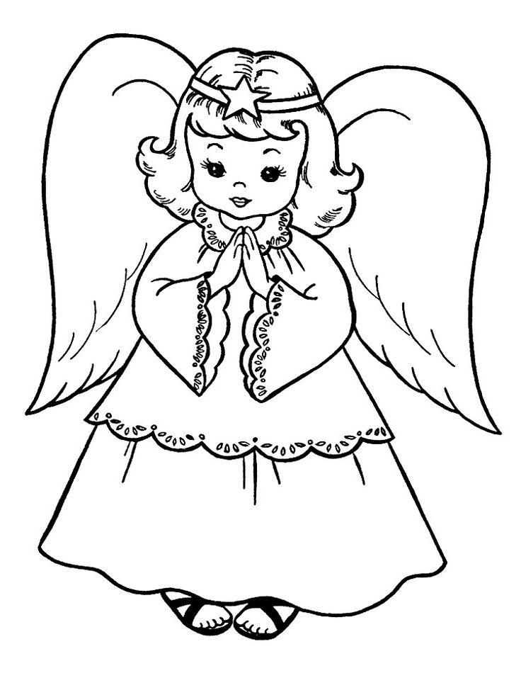 Ангелы рисунки черно белые