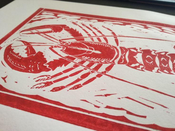 Homard Rouge Red Lobster Find more on ETSY !