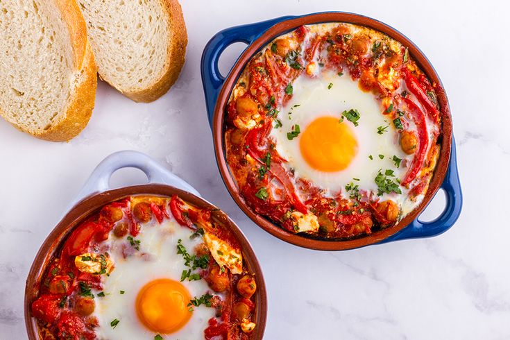 Ladies, you know how much I love eggs and egg dishes! Well this delicious Middle Eastern-style recipe uses eggs in a fantastic way. If you've never had shakshuka before, you're in for a treat! You crack the eggs into the spicy tomato sauce, then bake it all in the oven for a few minutes.   Make this Spicy Chickpea Shakshuka recipe for brunch or a light dinner. It's so delicious, you might not want to share. Who doesn't love a quick brunch recipe?  Ingredients (makes 2 serves): 1 tbsp olive…