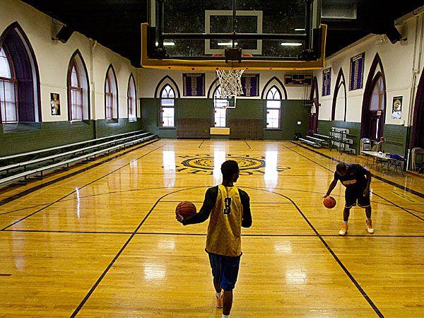 Roman Catholic High School´s third-floor gymnasium. (Charles Fox/Staff Photographer)