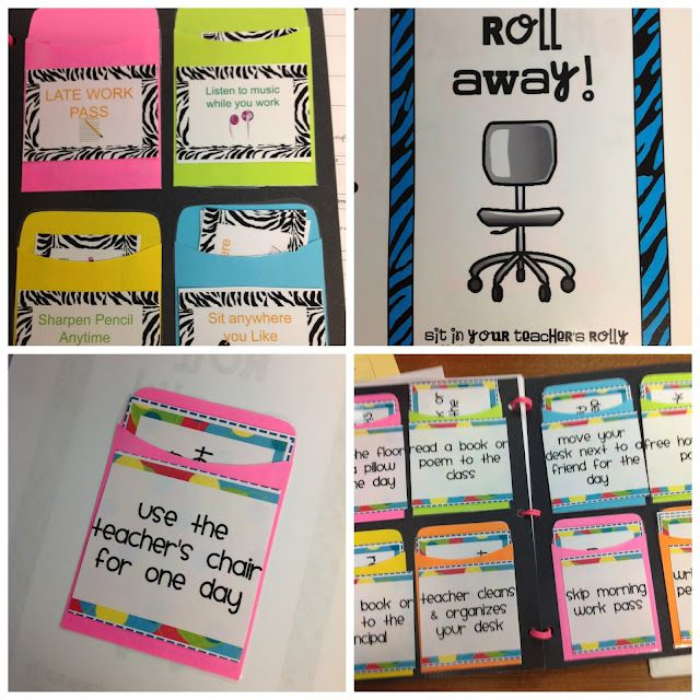 Reward ideas...Some of these would definitely work with middle schoolers