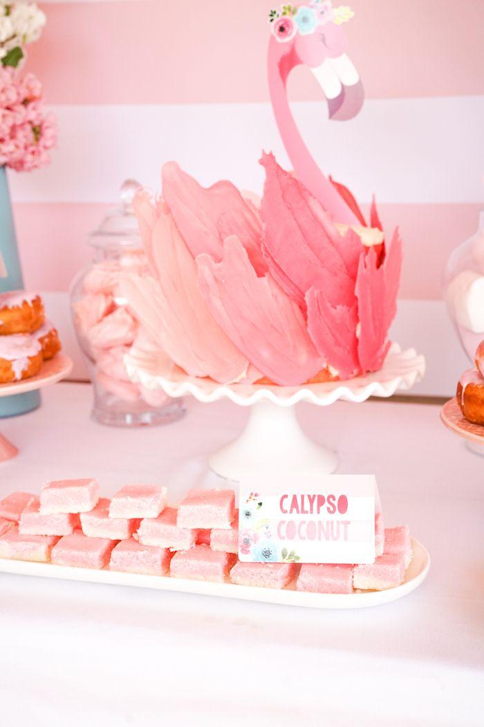 Blue Amp Pink Flamingo Birthday Party Flamingo Party Ideas
