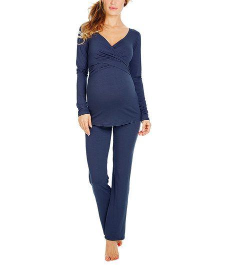 Envie de Fraise Marine Flore Maternity/Nursing Pajama Set | zulily