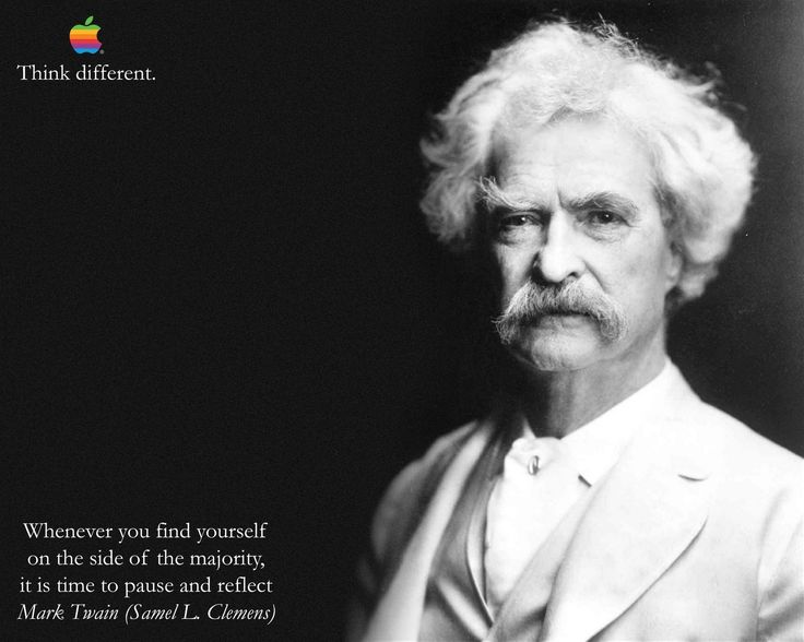 Mark Twain Think Different Motivation Inspiration Poster