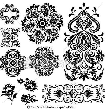 hungarian floral patterns - Google Search