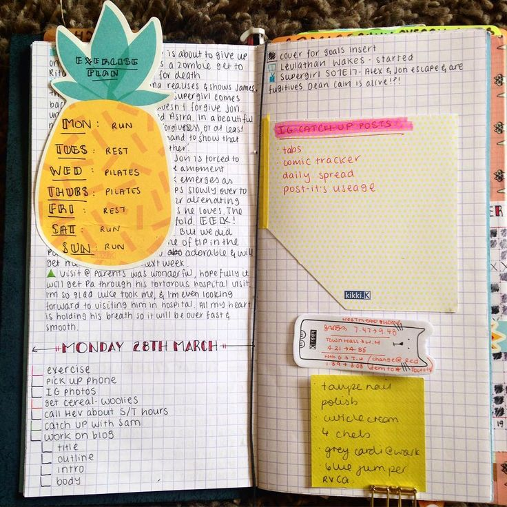 This is my crazy mess aka Future Planning. Never been a fan of monthly or even weekly spreads, I use the Sunrise app to plot all future appointments and tasks, the appointments go in when I find out about them and tasks usually go in the night before. I love collecting post-it's and it's a shame not to use them so they help me keep track of the important stuff coming up. Any little quirks your bujo has that isn't traditional?
