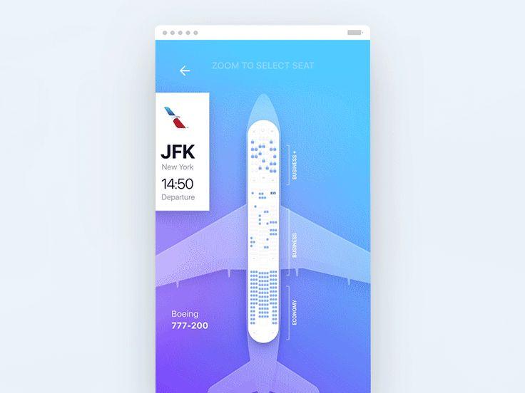 Seat flow for Tinder Travel concept by fantasy by Gleb Kuznetsov✈ for FΛNTΛSY