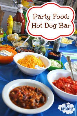 Best Birthdays: Easy Party Food: Hot Dog Bar